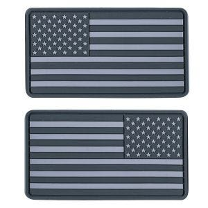 Helikon Large Subdued USA Flag Patch (Pack of 2) Grey