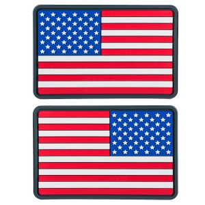 Helikon Small USA Flag PVC Patch (Pack of 2) True Colours