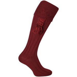 Jack Pyke Plain Shooting Socks Burgundy