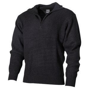 MFH Navy Sweater Acrylic Black