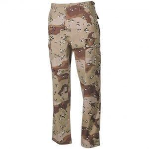 MFH BDU Combat Trousers Ripstop 6-Colour Desert