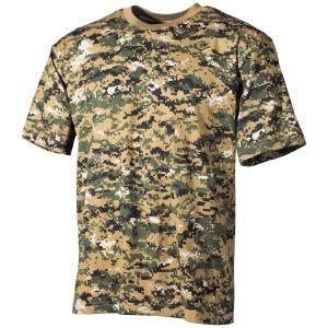 MFH T-shirt Digital Woodland