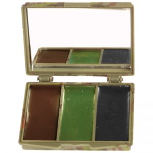 Mil-Tec Camo Face Paint 3 Colours with Mirror Woodland