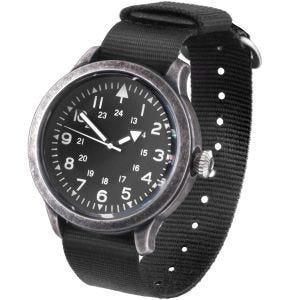 Mil-Tec British Style Army Watch Stainless Steel Dull