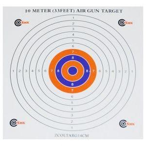 SMK Colour Centre 14cm Card Targets (100 Pack)