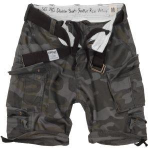 Surplus Division Shorts Black Camo