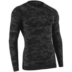 Tervel Optiline Digital Shirt Long Sleeve Black / Grey