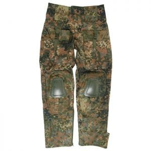 Mil-Tec Warrior Trousers with Knee Pads Flecktarn