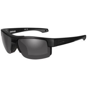 Wiley X WX Compass Glasses - Smoke Grey Lens / Matte Black Frame