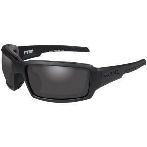 Wiley X WX Titan Glasses - Smoke Grey Lens / Matte Black Frame