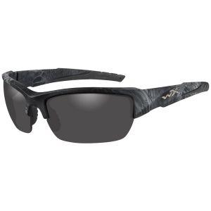 Wiley X WX Valor Polarized Glasses - Smoke Grey Lens / Kryptek Typhon Frame