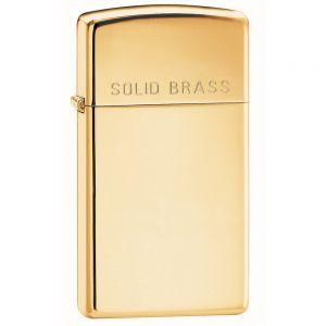 Zippo Slim High Polish Brass Engraved Lighter
