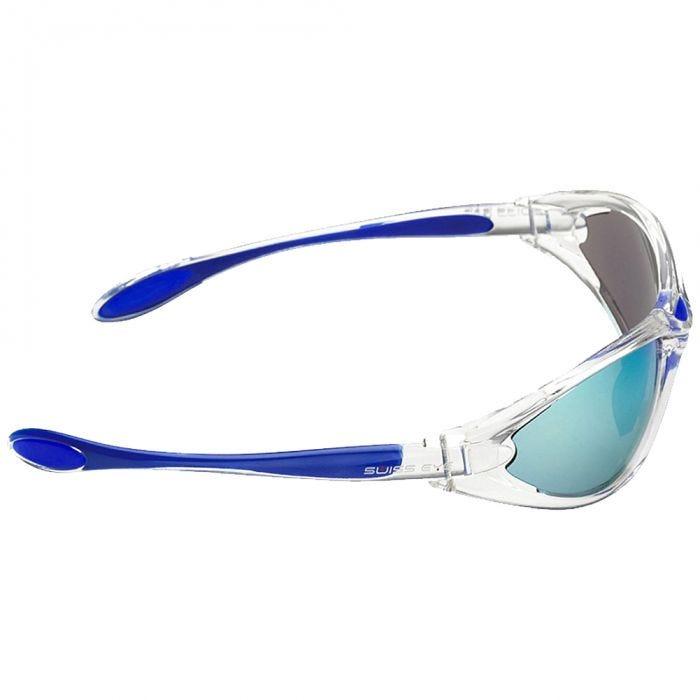 Swiss Eye Constance Sunglasses - Smoke BW Revo + Orange + Clear Lens / Crystal Blue Frame