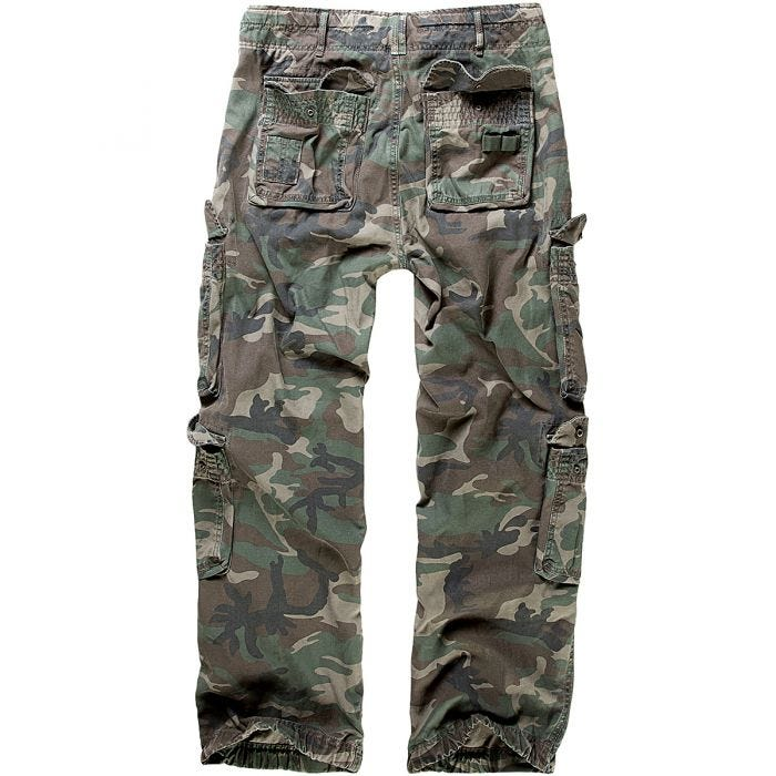 Brandit Pure Vintage Trousers Woodland