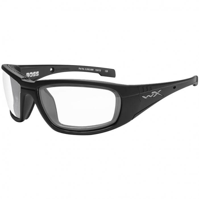 Wiley X WX Boss Glasses - Clear Lens / Gloss Black Frame
