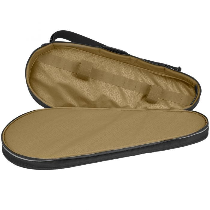 Civilian Dropshot Racket Style Padded Rifle Case Black
