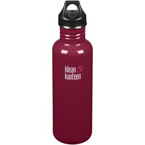 Klean Kanteen Classic 800ml Bottle Loop Cap Damson
