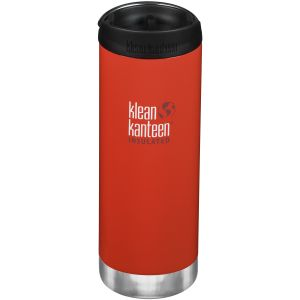 Klean Kanteen TKWide 473ml Insulated Bottle Cafe Cap 2.0 Post Box Red