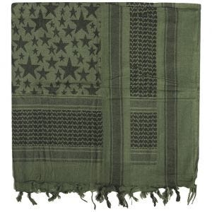 Mil-Tec Shemagh Scarf Stars Olive / Black
