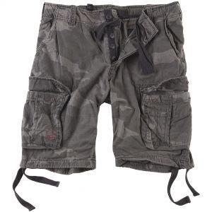 Surplus Airborne Vintage Shorts Washed Black Camo