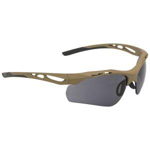 Swiss Eye Attac Sunglasses - Smoke + Orange + Clear Lens / Rubber Coyote Frame