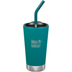 Klean Kanteen 473ml Tumbler Vacuum Insulated Straw Lid Emerald Bay