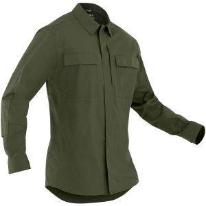 First Tactical Men's Tactix Long Sleeve BDU Shirt OD Green