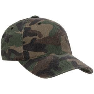 Flexfit Garment Washed Camo Woodland