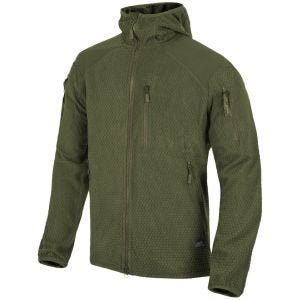 Helikon Alpha Hoodie Jacket Grid Fleece Olive Green