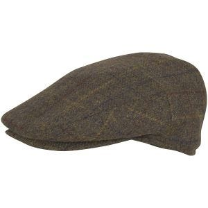 Jack Pyke Wool Blend Flat Cap Brown Check