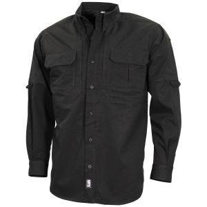 MFH Strike Tactical Shirt Long Sleeve Black