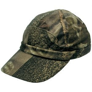MFH Hunter Cap with Fluorescent Strip Hunter Brown