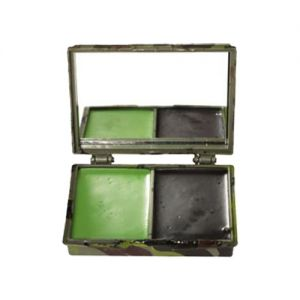 Mil-Tec Camo Face Paint 2 Colours with Mirror Woodland