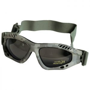 Mil-Tec Commando Goggles Air Pro Smoke Lens ACU Digital Frame