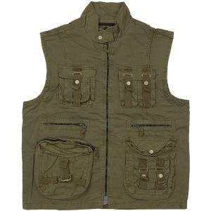 Mil-Tec Vintage Survival Vest Prewashed Olive
