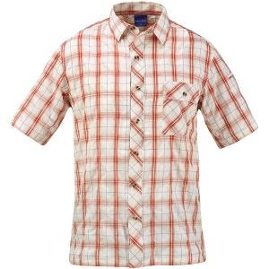 Propper Covert Button-Up Short Sleeve Shirt Brick Plaid