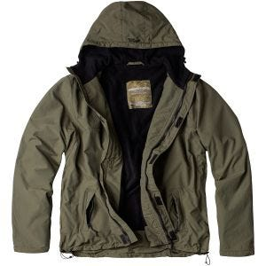 Surplus Windbreaker with Zipper Olive