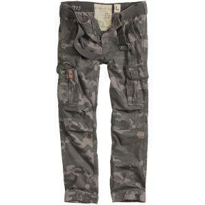 Surplus Premium Slimmy Trousers Black Camo