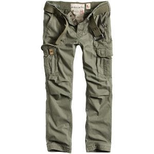 Surplus Premium Slimmy Trousers Olive Washed