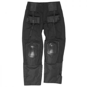 Mil-Tec Warrior Trousers with Knee Pads Black