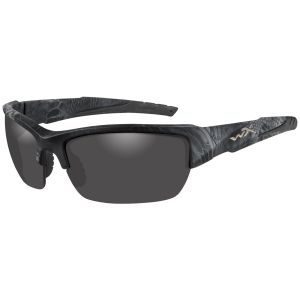 Wiley X WX Valor Polarized Glasses - Smoke Grey Lens / Kryptek Typhon Frame